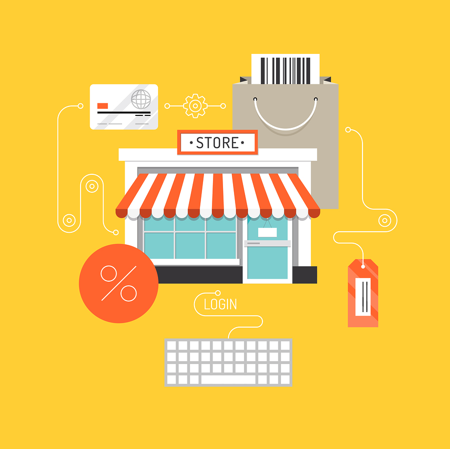 Online Shopping Flat Illustration Concept
