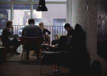 UK tech workers at a development jam, 2012